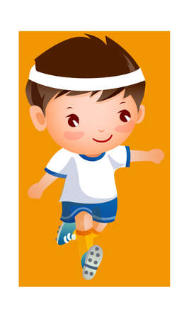 Boy in football player uniform Vector