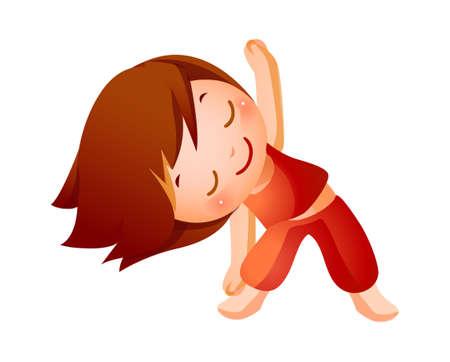 art activity: Girl Exercising
