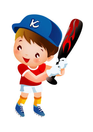 Baseball player swinging bat  Vector