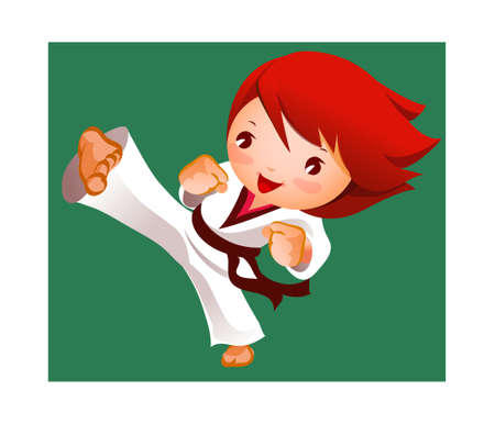 kick of martial artist  Stock Vector - 15903136
