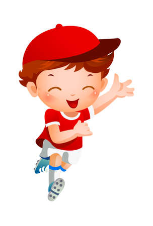 Boy sport player running Stock Vector - 15946077