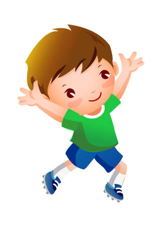 Boy sport player running