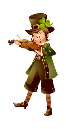 Boy playing violin Stock Vector - 15946830