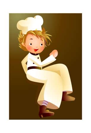 Portrait of boy in chef uniform Stock Vector - 15946710