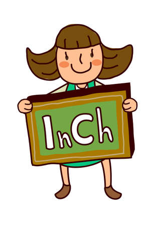 Portrait of Girl with sign board Vector