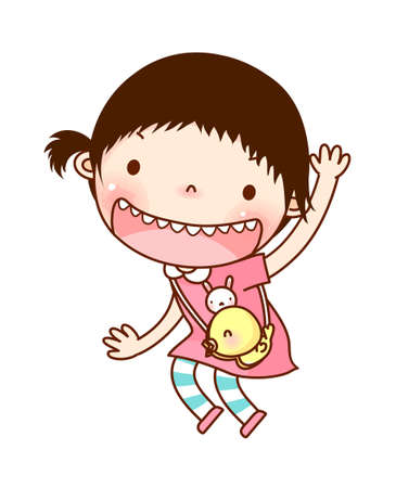 only baby girls: Portrait of girl  Illustration