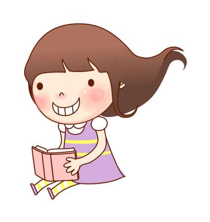 Portrait of girl  Illustration