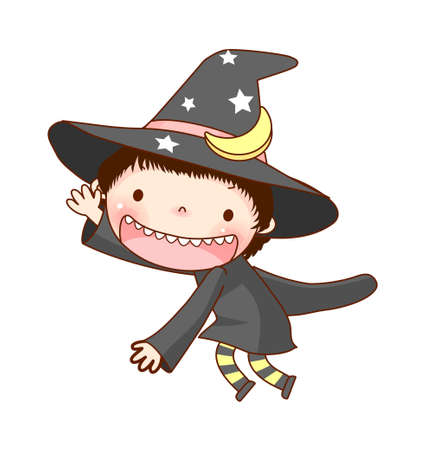 Portrait of Boy in costume Vector