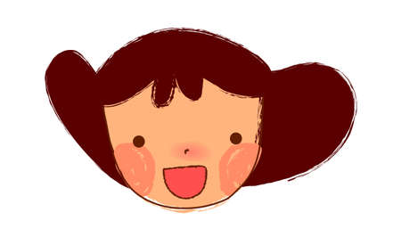 Close-up of Girl face Vector