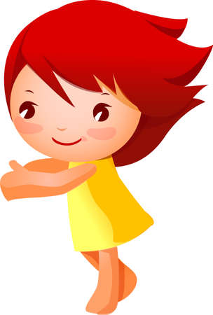Close-up of girl  Stock Vector - 15878388