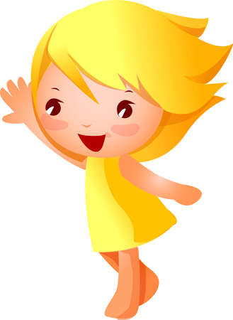 Side view of girl  smiling Vector