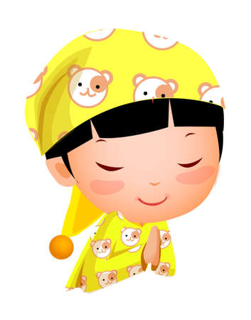 Close-up of girl smiling Stock Vector - 15873321