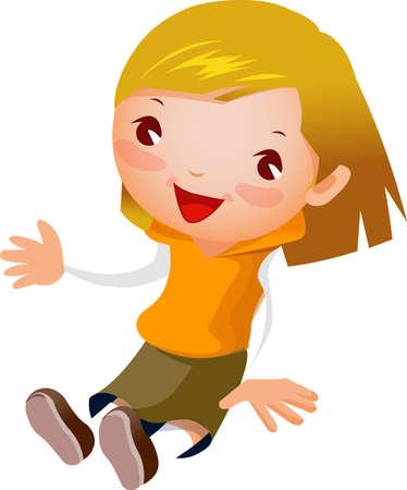 Portrait of girl   Stock Vector - 16040403