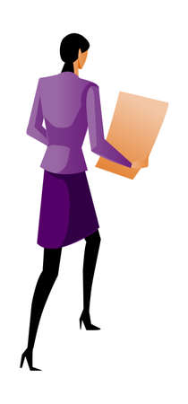 Rear view of woman walking Stock Vector - 15878996