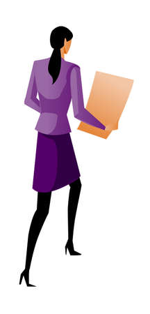 rear view of businesswoman walking Stock Vector - 15879015