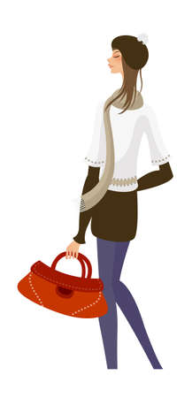 side view of woman standing Stock Vector - 15875031