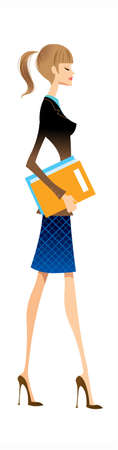 side view of woman standing Stock Vector - 15861546