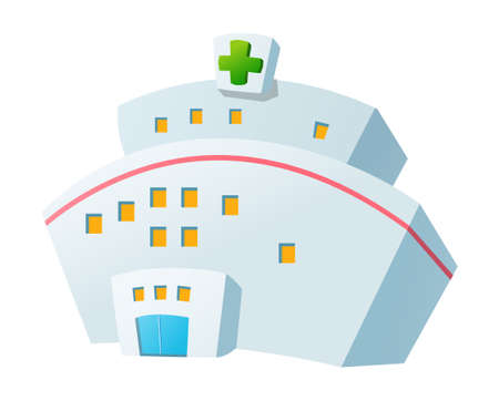 hospital background: Vector icon hospital Illustration