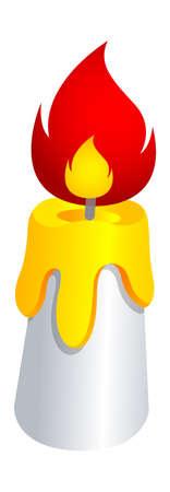 candle: Vector pictogram kaars Stock Illustratie