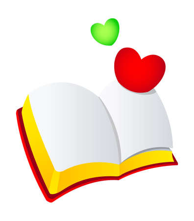 Vector icon bible and heart Vector