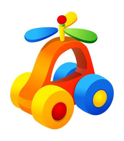 Vector icon toy car Illustration