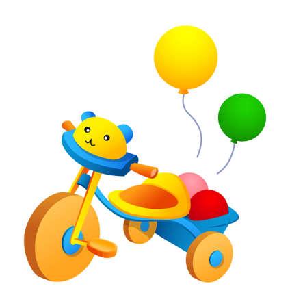 driewieler: Vector pictogram driewieler en ballon