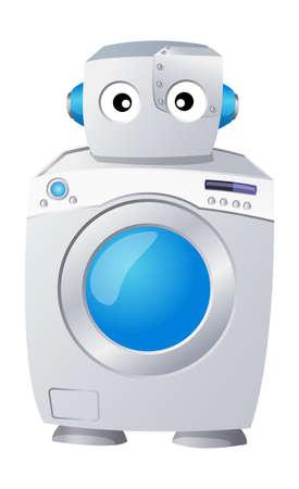 lavadora de ropa: Vector icono lavadora Vectores