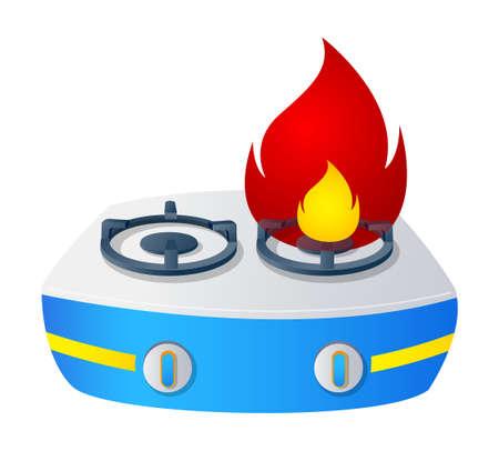 Vector icon gas range Stock Vector - 15910813