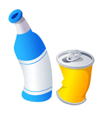 Vector icon can and bottle Stock Vector - 15909371