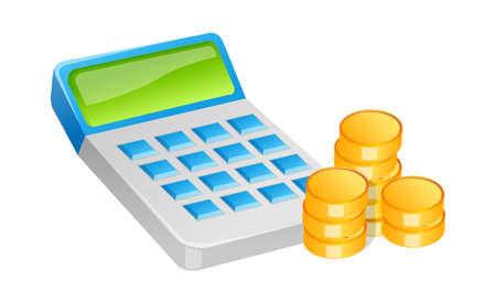 icon cash and calculator