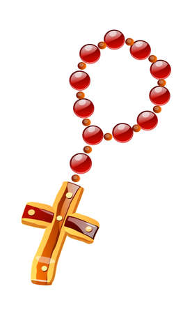 vector icon rosary Stock Vector - 15996485