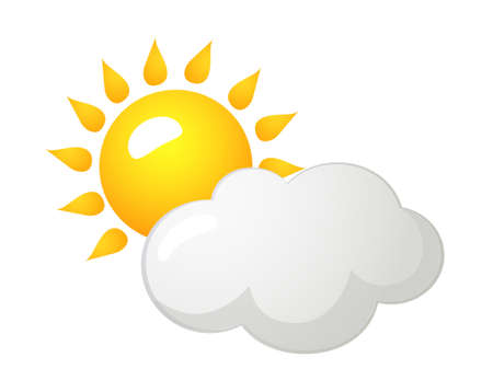icon sun and cloud Illustration