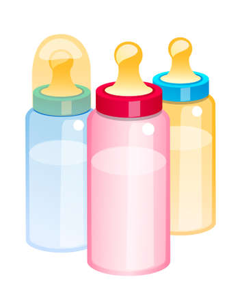 vector icon baby bottle Stock Vector - 15993411