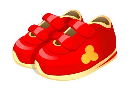 vector icon baby shoes Vector