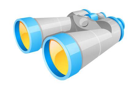 icon binoculars Vector