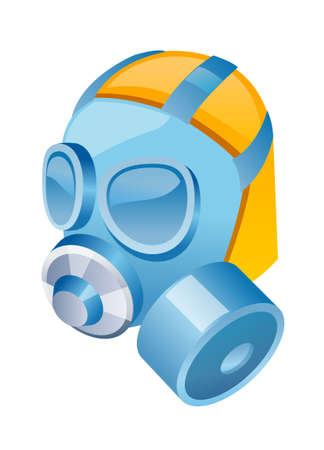oxygen mask: vector icon gas mask