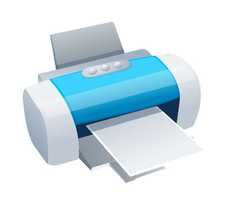icon printer Illustration