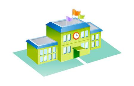 schulgeb�ude: Symbol der Schule Illustration