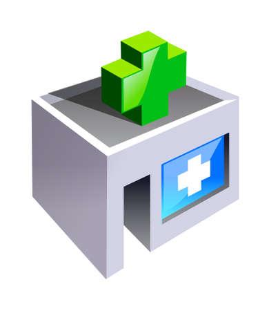 hospital background: vector icon hospital