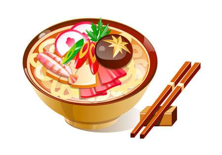 vector icon noodles