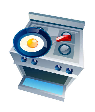 vector icon gas range and oven Stock Vector - 15996473