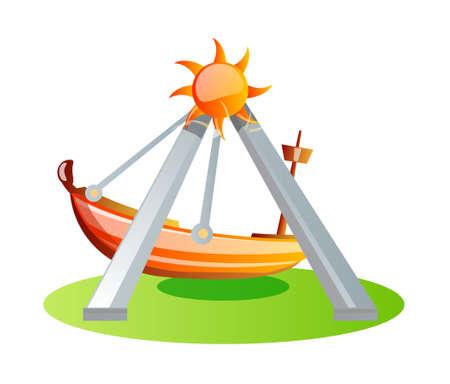 amusement park rides: vector icon ride Illustration