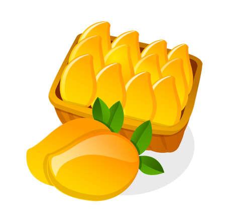mangoes: vector icon mango