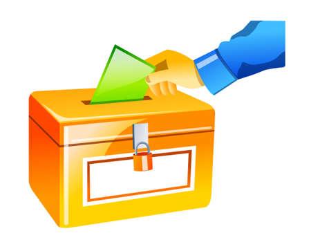 icon ballot box Stock Vector - 15940945