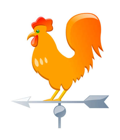 vector icon rooster weathercock Vector
