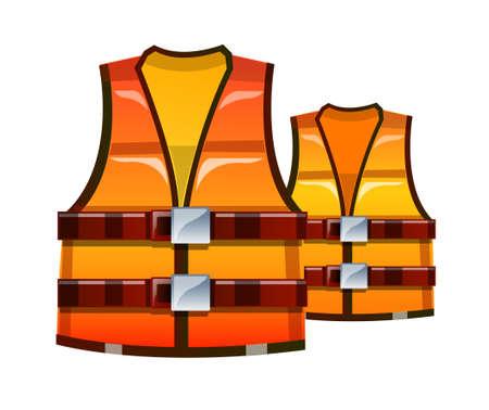 digital security: vector icon safety vest Illustration
