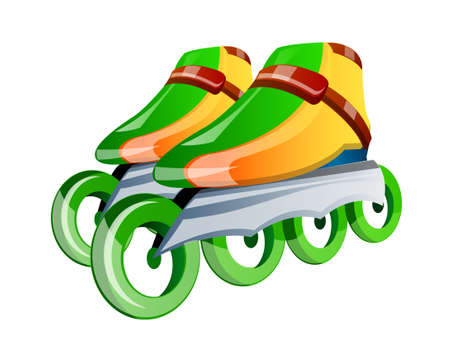 vector icon in-line skates Illustration