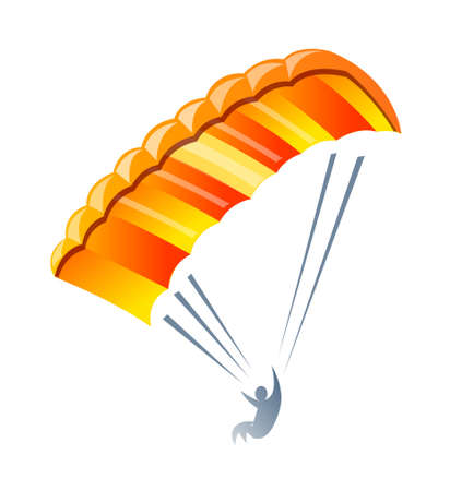 parachute: vector icon parachute Illustration