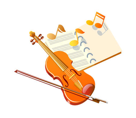 vector icon violin Vector