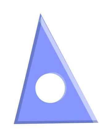 icon triangle rular Stock Vector - 15941017